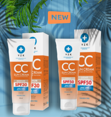 Опитайте новия VZK CC крем SPF30 и SPF50