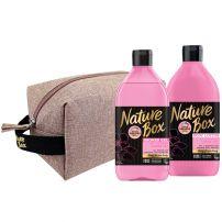 NATURE BOX душ-гел аlmond 385мл + nature box лосион almond 385 мл, подаръчен комплект несесер