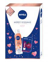 NIVEA XMAS'19 PERSONAL CARE MERRY KISSMAS Подаръчен комплект душ пяна 200мл+балсам за устни+кутия