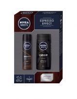 NIVEA MEN XMAS'19 PERSONAL CARE ESPRESSO EFFECT  Подаръчен комплектдео спрей 150 + душ гел 250мл +кутия
