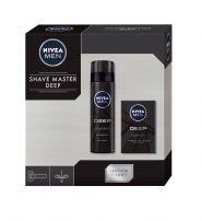 NIVEA MEN XMAS'19 PERSONAL CARE SHAVE MASTER DEEP Подаръчен комплек гел за бръснене+гел за бръснене+кутия
