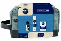 NIVEA MEN XMAS'19 PERSONAL CARE SENSITIVE CARE Подаръчен комплек 3 часи +несесер