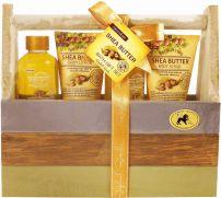 RAPHAEL ROSALEE FRUITS Подаръчен комплект масло ший 109, 4 части + дървена кошничка