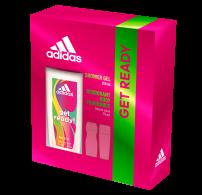 ADIDAS GET READY Подаръчен комплект дамски парфюмен део спрей 75мл + душ гел 250мл