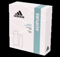 ADIDAS ADIPURE Подаръчен комплект дамски спрей антиперспирант 150мл+ душ гел 250мл