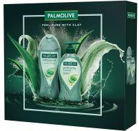 PALMOLIVE CLAY душ гел clay purifying 250мл + течен сапун clay purifying 250мл, подаръчен комплект