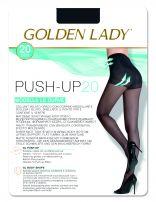 GOLDEN LADY PUSH UP 20 DEN  Моделиращи чорапогащи с пристягане на корема, ханша и бедрата размер 5 XL, телесен цвят