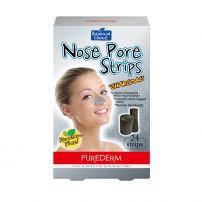 PUREDERM Почистващи лепенки за нос с ективен въглен, 6 бр в кутия
