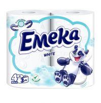 EMEKA WHITE 4 3-пластова тоалетна хартия без цвят и без аромат, 4 бр.