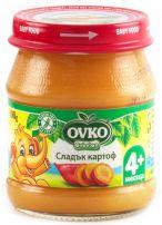 BEBELAN OVKO Бебешко пюре сладък картоф 4+мес, 100 гр.