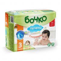 БОЧКО Бебешни пелени Миди размер 3, 4-9 кг., 33 бр.