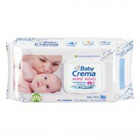 BABY CREMA Влажни кърпики 99% water, 72 бр с капак