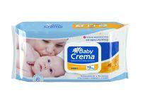 BABY CREMA Влажни кърпики с невен, 72 бр с капак
