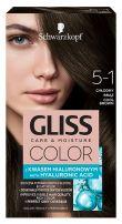 GLISS COLOR Боя за коса 5-1 Студено кафяв