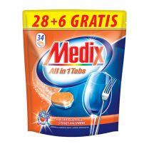 MEDIX ALL in 1 TABS Таблетки за съдомиялна, 28 бр.