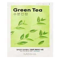 MISSHA AIRY FIT Лист маска за лице с  зелен чай, 19 г.