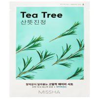 MISSHA AIRY FIT Лист маска за лице с чаено дърво, 19 г.