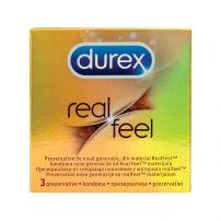 DUREX REAL FEEL Презервативи, 3 бр.