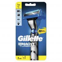 GILLETTE MACH 3 TURBO 3D Система за бръснене  дръжка + две ножчета