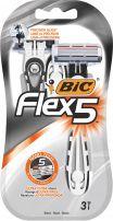 BIC Самобръсначка за мъже flex5 блистер 3