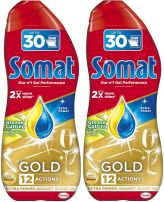 SOMAT GOLD GEL ANTI-GREASE  LEMON Гел за съдомиялна, 2x540 мл.