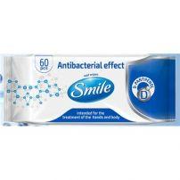 SMILE Мокри кърпички с антибактериален ефект с Д пантенол, 60 броя