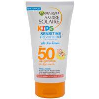 GARNIER AMBRE SOLAIRE KIDS WET SKIN Слънцезащитно мляко за влажна кожа SPF 50+, 150 мл