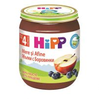 HIPP BIO Пюре ябълки и боровинки 4273, 125 гр