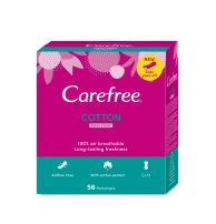 CAREFREE Ежедневни дамски превръзки cotton extract fresh, 56 бр.