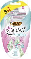 BIC MISS SOLEIL SENSITIVE Дамска еднократна самобръсначка 3+1