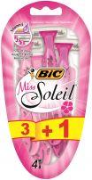 BIC SOLEIL Дамска еднократна самобръсначка, 3+1 бр.