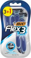 BIC FLEX 3 COMFORT Еднократна самобръсначка блистер, 3+1 бр.