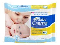BABY CREMA Бебешки мокри кърпи лайка, 15 бр