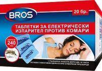 BROS Таблетки за електрически изпарител против комари, 20 бр.