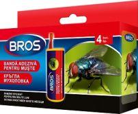 BROS Ролка с лепило против летящи насекоми, 4 бр.