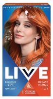 LIVE COLOR + LIFT Боя за коса L74 ярко оранжев