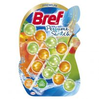 BREF WC PERFUME SWITCH FLORAL JUICY PEACH & SWEET APPLE Ароматизатор за тоалетна, 3 х 50 гр.