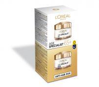 L'OREAL PARIS Age Specialist Anti-Wrinkle 65+ Подхранваща дневна и нощна грижа против бръчки дуо пакет