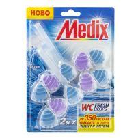 MEDIX WCFRESH DROPS OCEAN Ароматизатор за тоалетна океан, 2 бр.