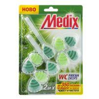MEDIX WC FRESH DROPS PINE Ароматизатор за тоалетна бор, 2 бр.