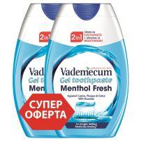 VADEMECUM 2IN1 MENTHOL FRESH Паста за зъби, 2Х75 мл.