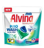 MEDIX ALVINA COLOR Течни капсули за цветно пране Active (зелен), 14бр.