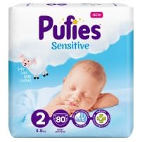 PUFIES SENSITIVE MINI MAXI Пелени за еднократна употреба, 80 бр.