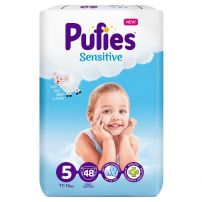 PUFIES SENSITIVEJUNIOR MAXI Пелени за еднократна употреба, 48 бр.