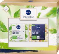 NIVEA NATURALLY GOOD Подаръчен кмплект Дневен крем 50 мл+Нощен крем, 50 мл