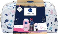 NIVEA ULTIMATE CARE Подаръчен комплект  Deo Рол-он дамски Invisible on Black & White Clear, 50мл+Expert Make-up Двуфазна мицеларна вода, 400мл+Душ гел Water Lily & Oil, 250мл