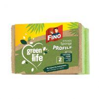 FINO GREEN Кухнски гъби с канал, 2 бр.