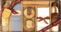 RAPHAEL ROSALEE Подаръчен комплект Душ гел 260 мл + Масло за тяло 50 мл + Пилинг за тяло  50мл +  Лосион за тяло 260 мл + Соли за баня 100гр + Масажна ролка + Памучна кърпа