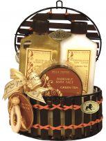 RAPHAEL ROSALEE Подаръчен комплект Душ гел 160 мл +  Лосион за тяло 160 мл + Соли за баня 120гр + Масажна гъба за тяло + Кошница