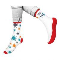 HAPPY FOOTTOPIA Чорапи 82% памук с декорация Вирус р-р 39-42